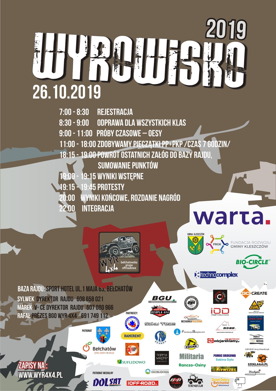 Plakat sponsorzy